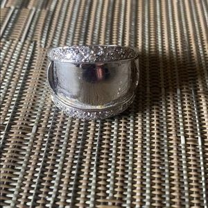 Sterling Silver SZ stone vintage ring
